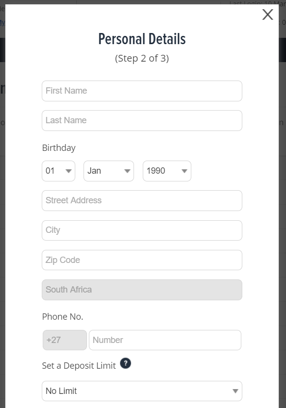 Fill Personal Details