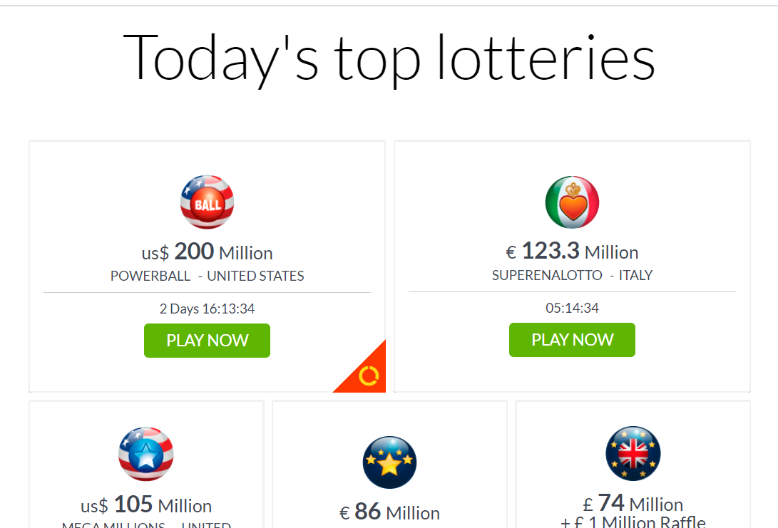 Today's Top Lotteries