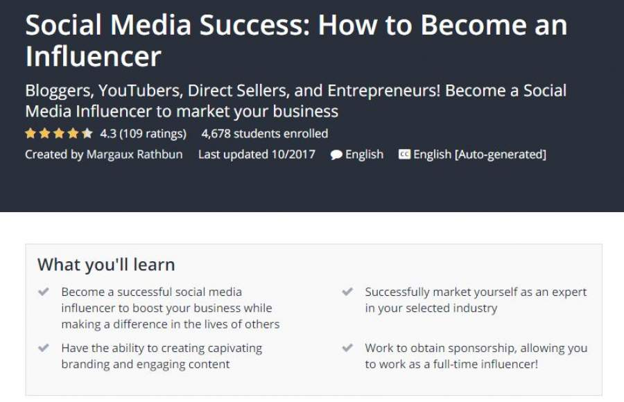 Udemy become a influencer and work from home