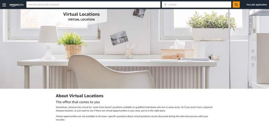 amazon virtual locations work from home