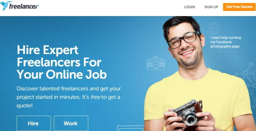 freelancer homepage best work from home jobs