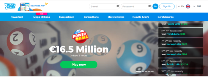 Multilotto Online Lottery